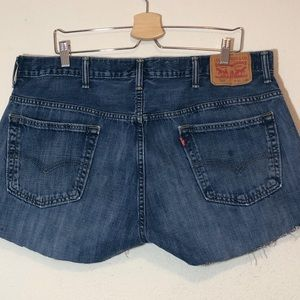 Levi's Festival Cutoff Dark Denim Shorts Sz 38